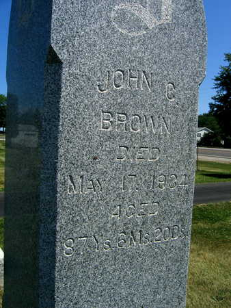 BROWN, JOHN C. - Linn County, Iowa | JOHN C. BROWN