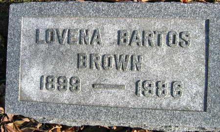 BARTOS BROWN, LOVENA - Linn County, Iowa | LOVENA BARTOS BROWN