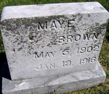 BROWN, MAYE - Linn County, Iowa | MAYE BROWN