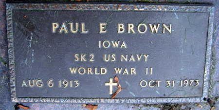 BROWN, PAUL E. - Linn County, Iowa | PAUL E. BROWN