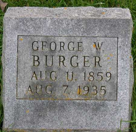 BURGER, GEORGE W. - Linn County, Iowa | GEORGE W. BURGER