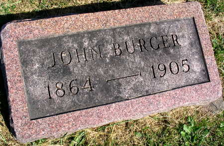 BURGER, JOHN - Linn County, Iowa | JOHN BURGER