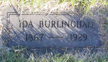 BURLINGHAM, IDA - Linn County, Iowa | IDA BURLINGHAM