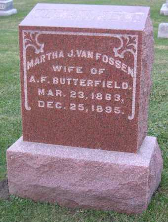 VAN FOSSEN BUTTERFIELD, MARTHA J. - Linn County, Iowa | MARTHA J. VAN FOSSEN BUTTERFIELD
