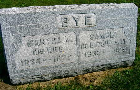 BYE, SAMUEL - Linn County, Iowa | SAMUEL BYE