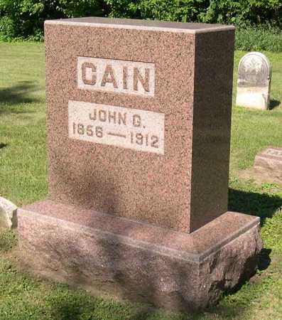CAIN, JOHN G. - Linn County, Iowa | JOHN G. CAIN