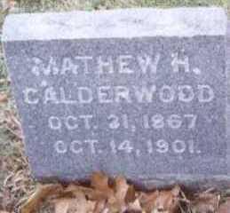CALDERWOOD, MATHEW H. - Linn County, Iowa | MATHEW H. CALDERWOOD