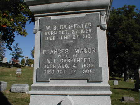 MASON CARPENTER, W.B. AND F. A. - Linn County, Iowa | W.B. AND F. A. MASON CARPENTER