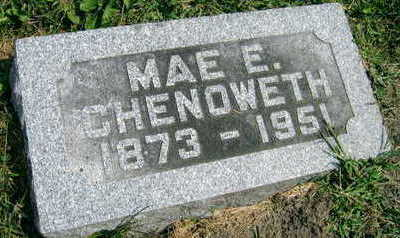 CHENOWETH, MAE E. - Linn County, Iowa | MAE E. CHENOWETH
