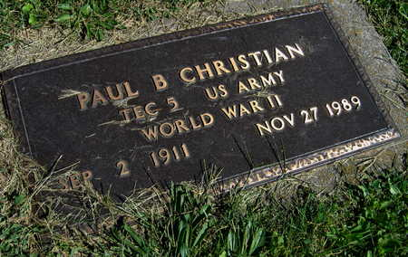 CHRISTIAN, PAUL B. - Linn County, Iowa | PAUL B. CHRISTIAN