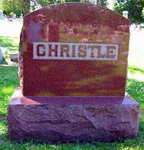 CHRISTLE, FAMILY STONE - Linn County, Iowa | FAMILY STONE CHRISTLE
