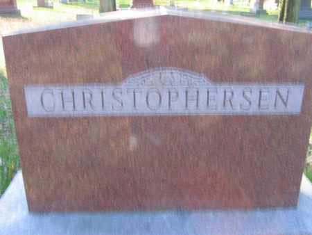 CHRISTOPHERSEN, FAMILY STONE - Linn County, Iowa | FAMILY STONE CHRISTOPHERSEN