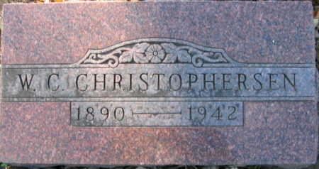 CHRISTOPHERSEN, W C - Linn County, Iowa | W C CHRISTOPHERSEN