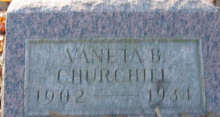 CHURCHILL, VANETA B - Linn County, Iowa | VANETA B CHURCHILL