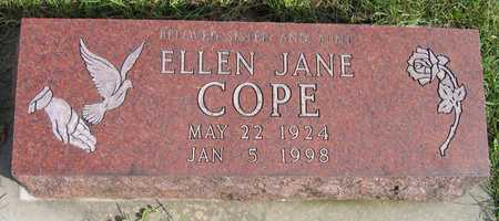 COPE, ELLEN JANE - Linn County, Iowa | ELLEN JANE COPE