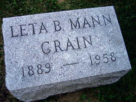 MANN CRAIN, LETA B. - Linn County, Iowa | LETA B. MANN CRAIN