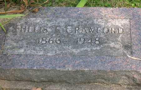 CRAWFORD, HILLIS T. - Linn County, Iowa   HILLIS T. CRAWFORD