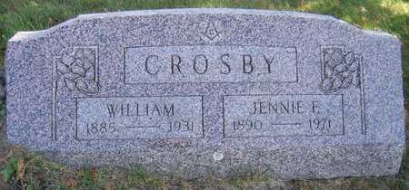 CROSBY, JENNIE F. - Linn County, Iowa | JENNIE F. CROSBY