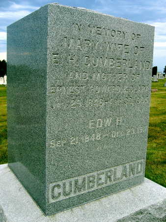 CUMBERLAND, MARY - Linn County, Iowa | MARY CUMBERLAND