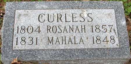 CURLESS, MAHALA - Linn County, Iowa | MAHALA CURLESS
