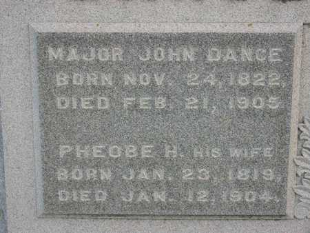DANCE, JOHN, MAJOR - Linn County, Iowa | JOHN, MAJOR DANCE