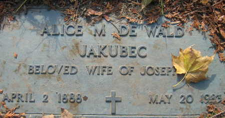JAKUBEC, ALICE M. - Linn County, Iowa | ALICE M. JAKUBEC