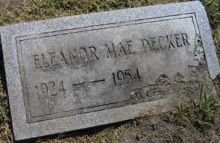 DECKER, ELEANOR MAE - Linn County, Iowa | ELEANOR MAE DECKER