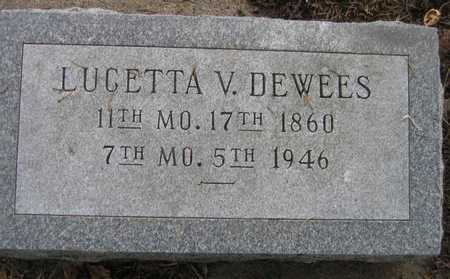DEWEES, LUCETTA V. - Linn County, Iowa | LUCETTA V. DEWEES