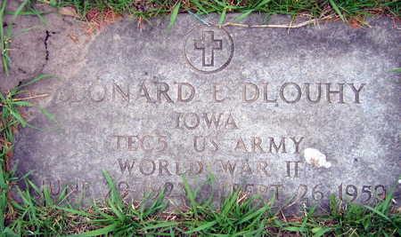 DLOUHY, LEONARD E. - Linn County, Iowa | LEONARD E. DLOUHY