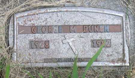 DUNEK, GEORGE M. - Linn County, Iowa | GEORGE M. DUNEK