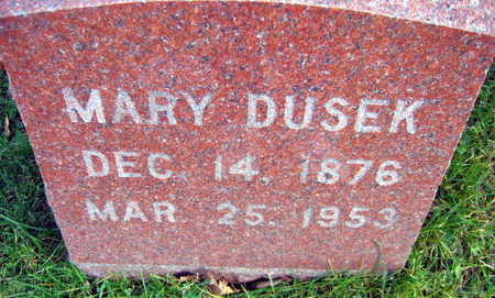 DUSEK, MARY - Linn County, Iowa | MARY DUSEK