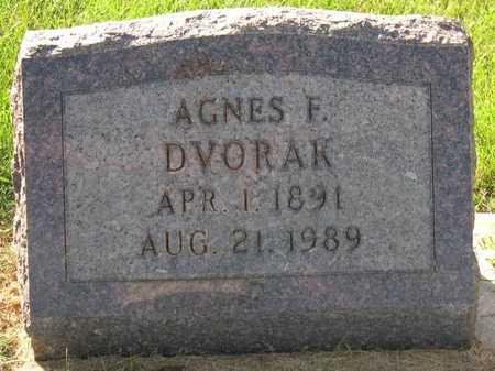 DVORAK, AGNES F. - Linn County, Iowa | AGNES F. DVORAK