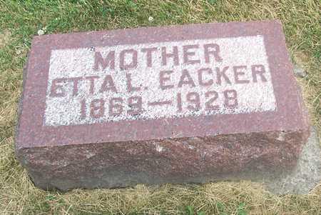 EACKER, ETTA L. - Linn County, Iowa | ETTA L. EACKER
