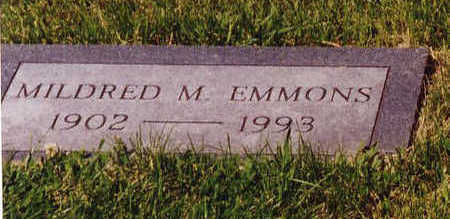 MILBURN EMMONS, MILDRED - Linn County, Iowa | MILDRED MILBURN EMMONS