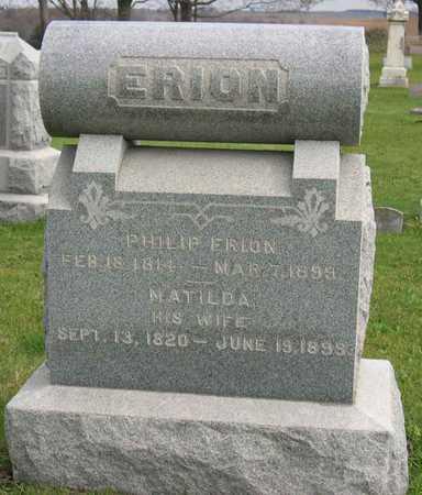 ERION, MATILDA - Linn County, Iowa | MATILDA ERION