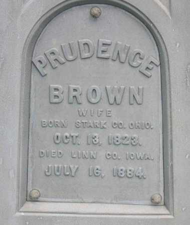 BROWN FAIRLEY, PRUDENCE - Linn County, Iowa | PRUDENCE BROWN FAIRLEY