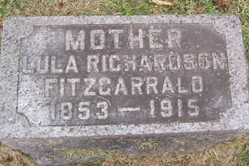 RICHARDSON FITZGARRALD, LULA - Linn County, Iowa | LULA RICHARDSON FITZGARRALD
