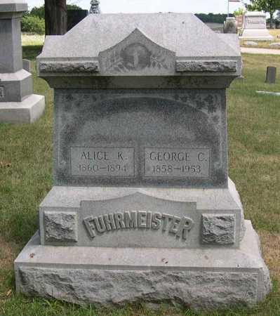FUHRMEISTER, ALICE K. - Linn County, Iowa | ALICE K. FUHRMEISTER