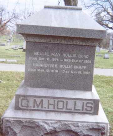 HOLLIS, FAMILY STONE  (C. M. HOLLIS) - Linn County, Iowa | FAMILY STONE  (C. M. HOLLIS) HOLLIS