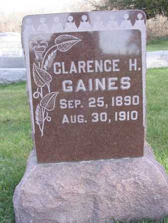 GAINES, CLARENCE H. - Linn County, Iowa | CLARENCE H. GAINES