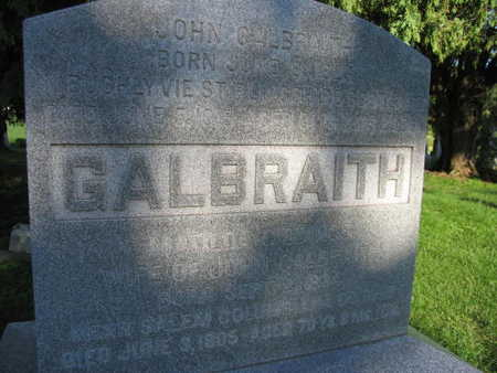GALBRAITH, JOHN - Linn County, Iowa | JOHN GALBRAITH