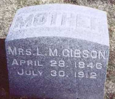 GIBSON, MRS. L. M. - Linn County, Iowa   MRS. L. M. GIBSON