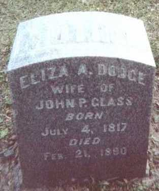 DODGE GLASS, ELIZA A. - Linn County, Iowa | ELIZA A. DODGE GLASS