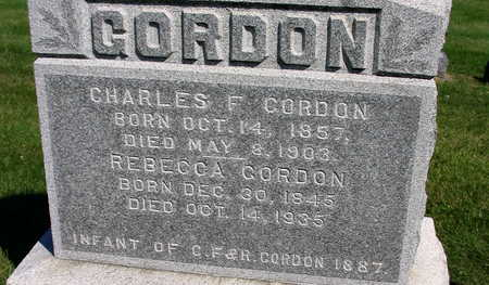 GORDON, CHARLES F. - Linn County, Iowa | CHARLES F. GORDON