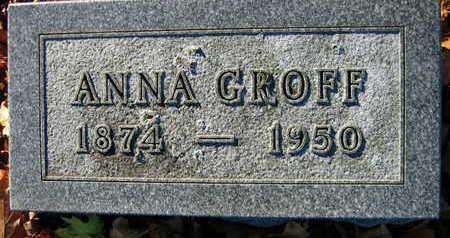 GROFF, ANNA - Linn County, Iowa | ANNA GROFF