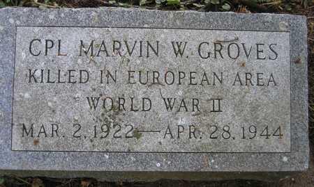 GROVES, MARVIN W. - Linn County, Iowa   MARVIN W. GROVES
