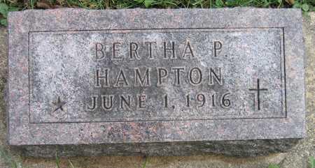 HAMPTON, BERTHA P. - Linn County, Iowa | BERTHA P. HAMPTON