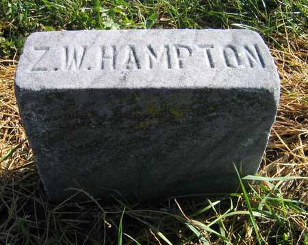 HAMPTON, Z. W. - Linn County, Iowa | Z. W. HAMPTON