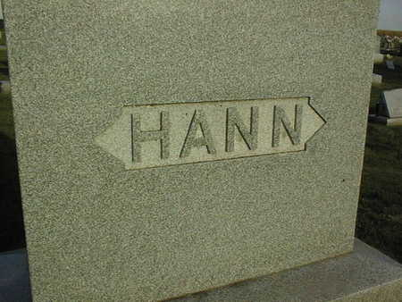 HANN, FAMILY STONE - Linn County, Iowa | FAMILY STONE HANN
