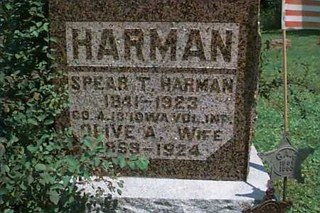 HARMAN, SPEAR - Linn County, Iowa | SPEAR HARMAN